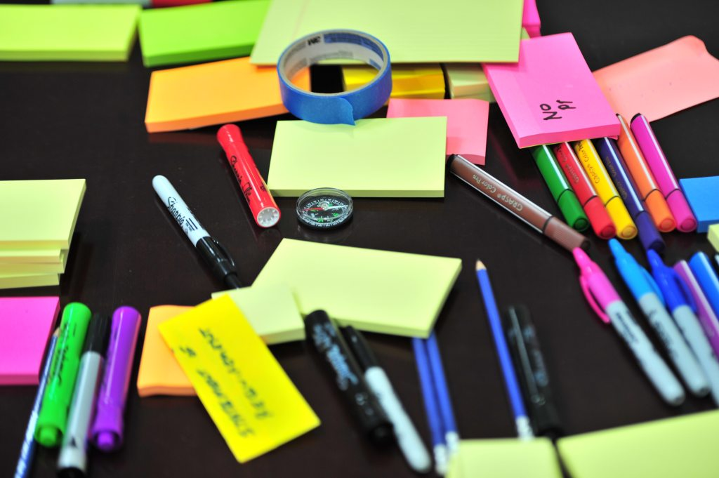 post-its and markers